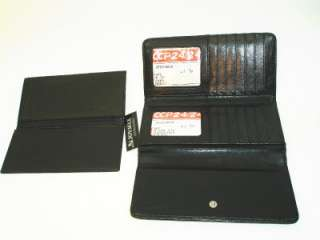 Womens Clutch Wallet High Quality Faux Leather WP804BLK