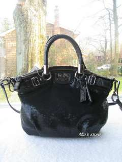 AUTH Coach Purse Madison Sequins Mini SOPHIA Shoulder Satchel Tote Bag