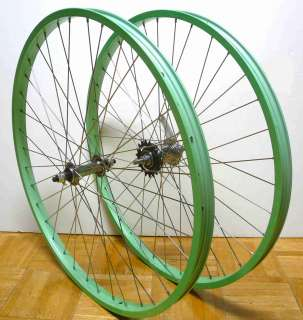 Beach Cruiser bike 24x1.75 Rear & F Wheels Mint Green