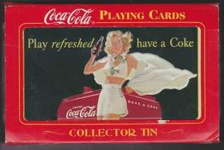 COCA COLA GIRL PLAYING CARDS IN COLLECTOR TIN 2000 Coke 2 Decks
