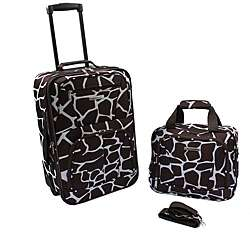 Rockland Giraffe Lightweight 2 Piece Carry On Luggage Set