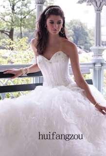 Custom made Bride Wedding Gown /Prom Ball Evening Dress / Bridesmaid