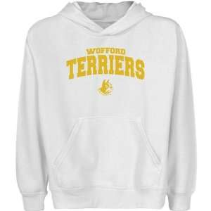 NCAA Wofford Terriers Youth White Logo Arch Pullover Hoody