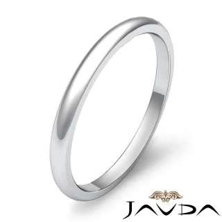 2g 8z Mens Wedding Band Dome Plain Ring 2mm Gold W 14k