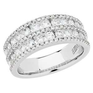 1.20 Carat 18kt White Gold Diamond Ring Jewelry