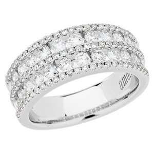 1.20 Carat 18kt White Gold Diamond Ring Jewelry