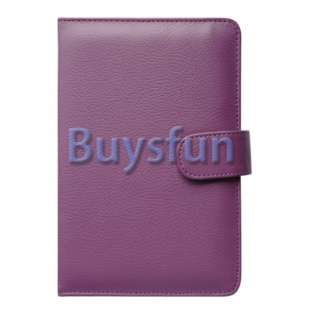 PURPLE LEATHER CASE COVER SKIN FOR  Kindle Fire 7 Tablet