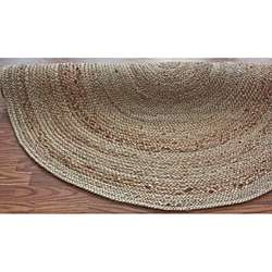 Natural Fiber Braided Reversible Jute Rug (6 Round)  Overstock