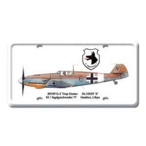 Gustav Air Force Jet Plane Metal License Plate Sign