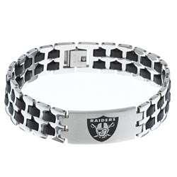 Stainless Steel Oakland Raiders Logo Bracelet  Overstock