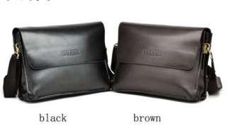 mans genuine leather messenger bag briefcase cross body shoulder