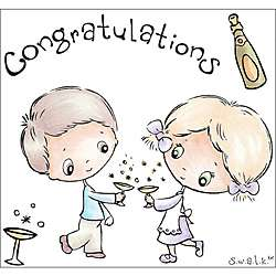 Crafters Companion S.W.A.L.K. Congratulations Rubber Stamps