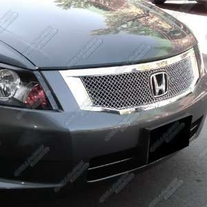 08 2010 Honda Accord Sedan Stainless Steel Chrome X Mesh Grille Grill