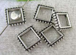50pcs Tibetan Silver square bead frame FC8830