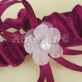 PCs Wedding Bridal Lace Bow Garter Tossing Set Claret