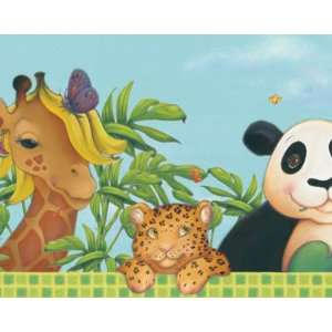 Jungle Babies Wallpaper Border: Home Improvement