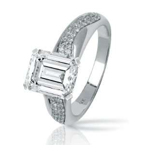 0.83 Carat Two Rows Of Pave set Round Diamonds Engagement