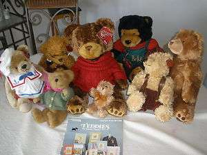 of 8 Assorted Teddy Bears – with Tags   NICE COLLECTION   VERY CUTE