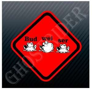 Bud Wei Ser Frogs Budweiser Beer Sign Symbol Sticker