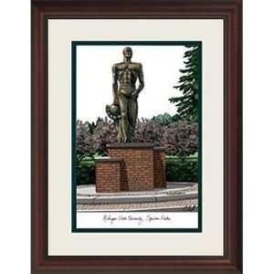 Michigan State University Spartan Statue Alumnus Framed