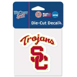 University Of Southern California Die Cut Decal 4x4