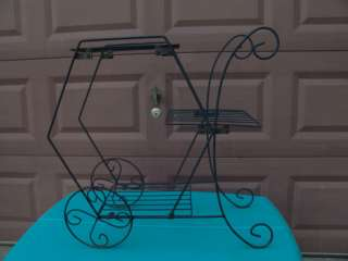 VINTAGE FLOWER CART PLANT STAND HOME/YARD BEAUTIFUL WOW