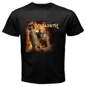New MEGADETH Heavy Metal Rock Band Mens Black T Shirt Size S   3XL