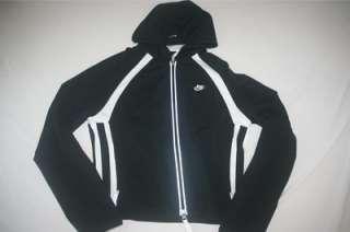 Nike Dri Fit Women Full Zip Hoody Sweat Shirt XS 0 2 NEW Black