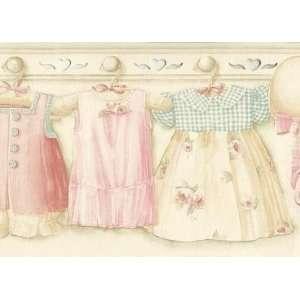 Girls Dresses On Hangers Wallpaper Border: Home Improvement
