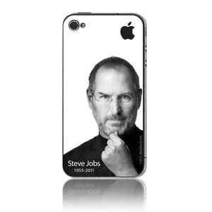 RIP Steve Jobs Memorial decal for iPhone 4 rear side Steve apple logo