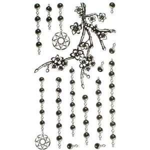 King Horse jewelry tattoo sticker black chain plum blossom