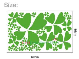 Lucky Leaf Decor Mural Art Wall Sticker Decal Y383 (various colors