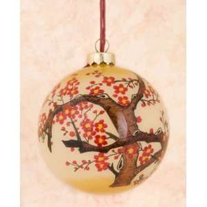 Hand Painted Glass Ornaments   Flowers