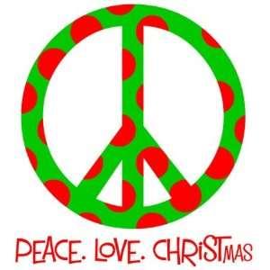 personalized peace love christmas tee shirt:  Home