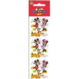 Disney Mickey and Minnie Mouse Pluto Sparkle Scrapbook Stickers (PDPM3