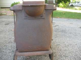 Antique hearts Cast Iron Wood Burning Stove MARTIN RANGE CO Box