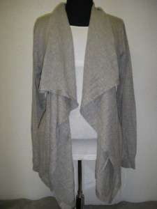 NWT! DKNYC Womens Open Front Drape Cardigan DKNY Long Sleeve GRAY Sz L