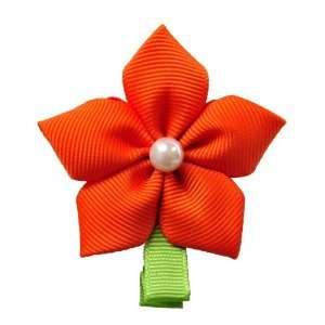 Sunny Orange Cosmo Flower Hair Pin Beauty