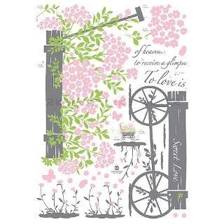 Instant Home Decor Wall Sticker Decal   Sweet Love Pull Flower Wagon