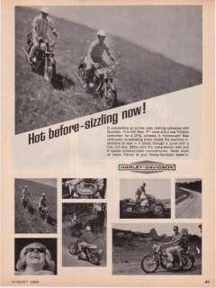 1966 Harley Davidson Sportster H CH Photo print ad