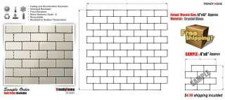 10 SF Snow White Subway glass tile mosaic kitchen backsplash wall
