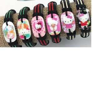 Hello Kitty Tribal Leather & Hemp Bracelets