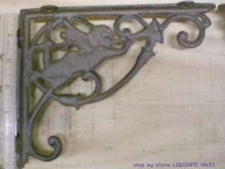 ANGEL SHELF BRACKETS Braces Corbels 6x7 1/2 cast iron