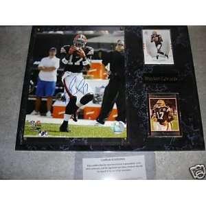 Braylon Edwards Autographed Cleveland Browns Wall Plaque w/ COA