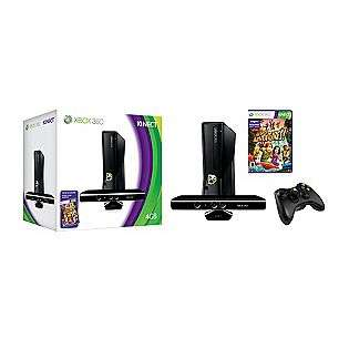 Xbox 360 4GB Console with Kinect  Microsoft Movies Music & Gaming Xbox