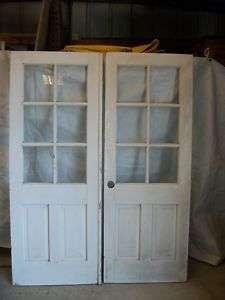 Antique Solid Wood French Door Set