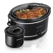 Hamilton Beach 5 Qt. Portable Slow Cooker with Bonus Warmer at