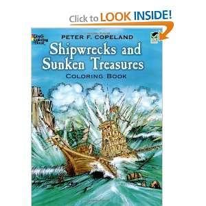 Shipwrecks and Sunken Treasures Coloring Book (Dover