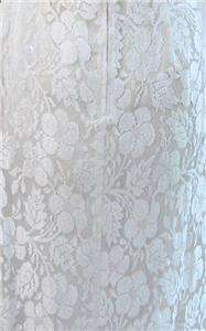 Stunning Ivory Lace Pageant Wedding Gown Vintage 1990s Med/Lg