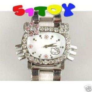 Hello Kitty steel rhinestone Wrist Quartz Watch 0350